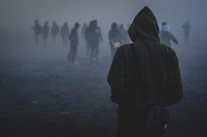 Boy Walking Alone